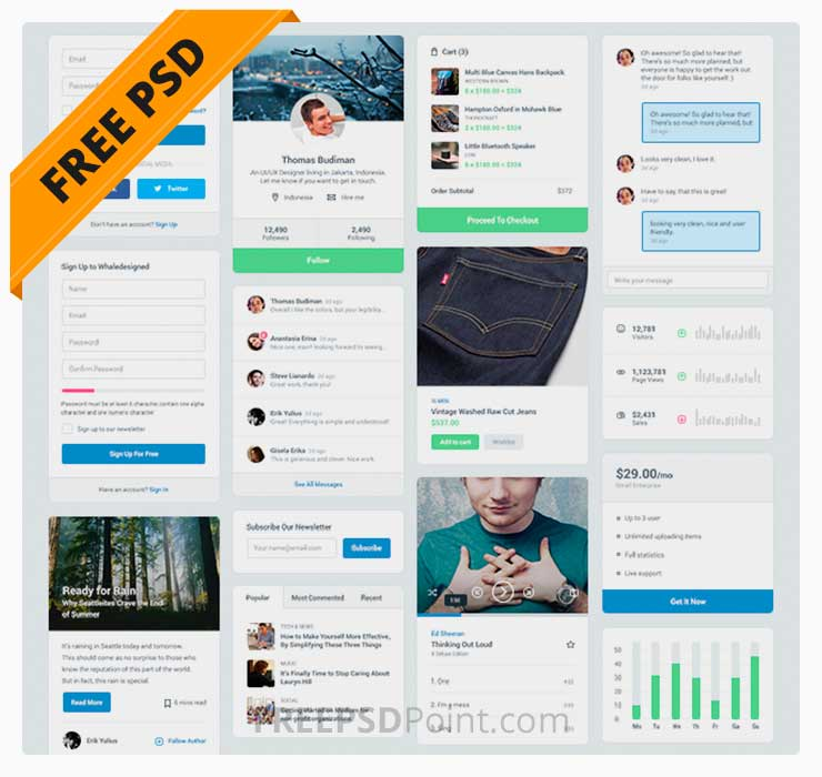 Free MFD UI Kit Freebie Download