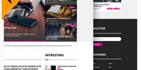 Free Multipurpose Magazine Blog Website PSD Template