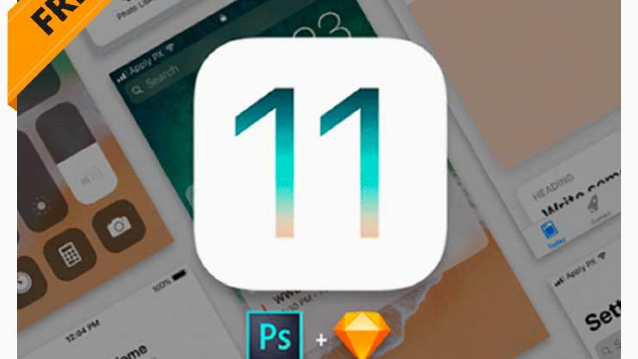 iOS 11 Free UI Kit Download for Photoshop & Sketch | Free PSD Point