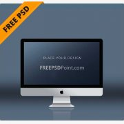 Apple monitor psd mockup for Free Download