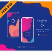 One Plus 6 Mockup PSD Free Download