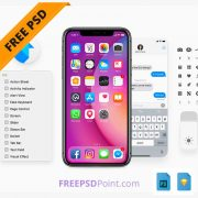 iOS 11 Free UI Kit Download for Photoshop & Sketch Design for Free Download Preview - 750x650