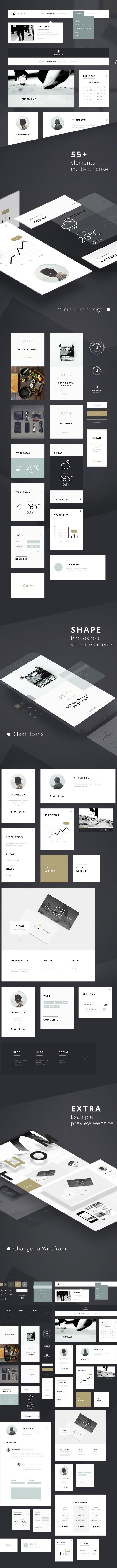 55 Free UI Kit Elements