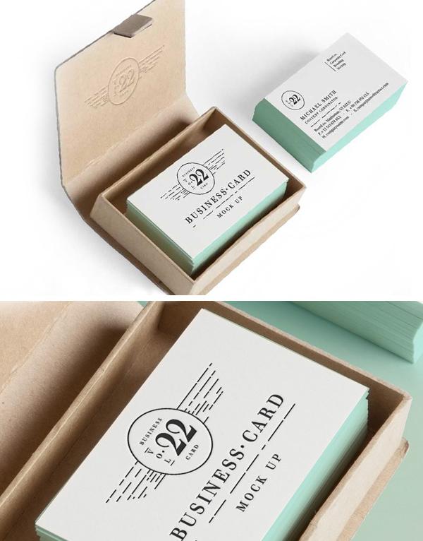 Business Card MockUp Vol-22 PSD Cardboard Box