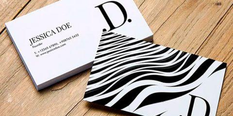 Business Card Template Mockup PSD