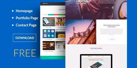 Free Responsive Website PSD Templates