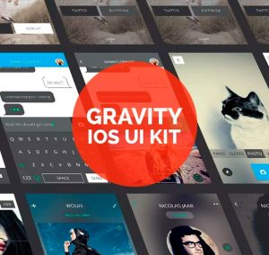 Gravity iOS UI Kit Design for Free Download