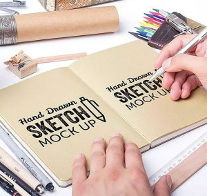 Hand Drawn Sketch Mockups