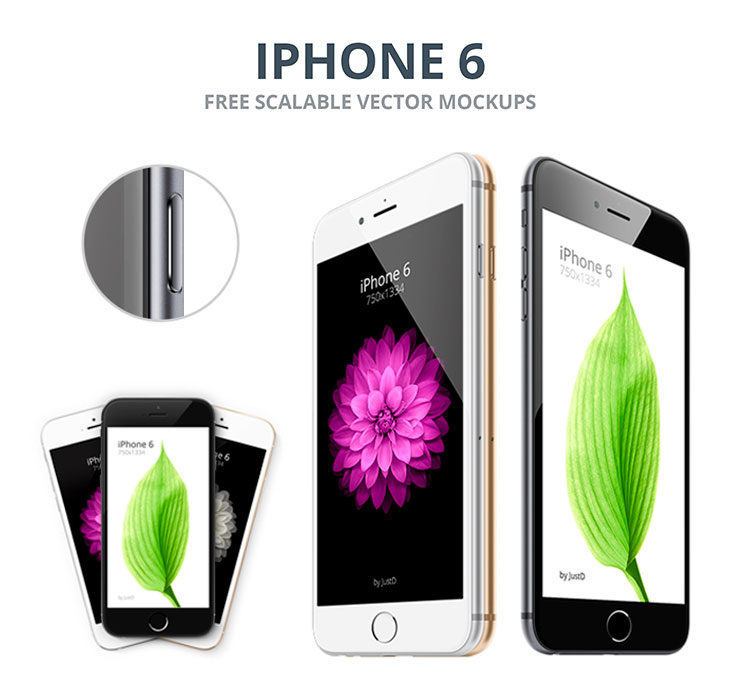 iPhone 6 Scalable PSD Mockups