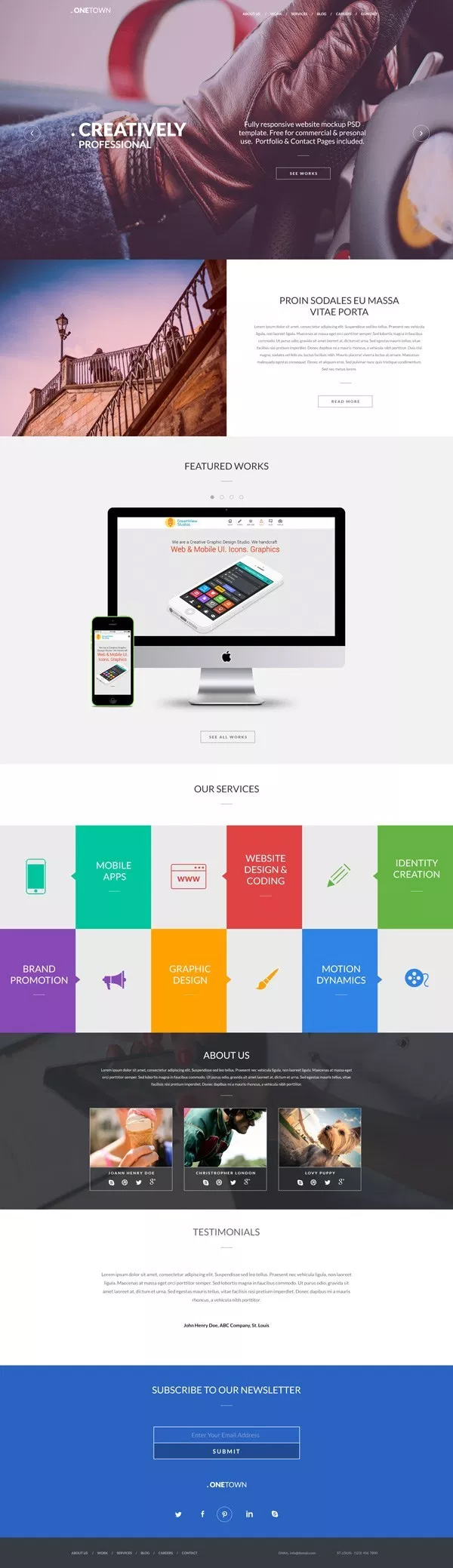 Free Responsive Website PSD Templates