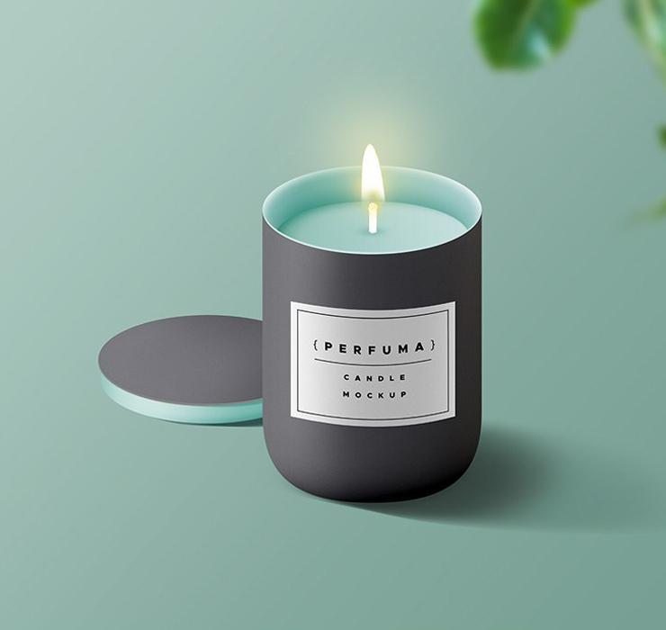 Candle Mockup PSD