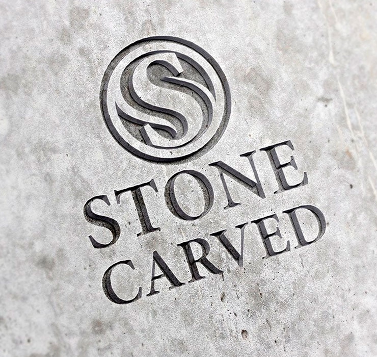 Carved Stone Logo Mockup Psd Free Download Free Psd Point