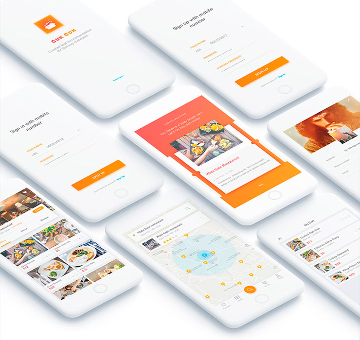 Cook App Design Free UI Kit