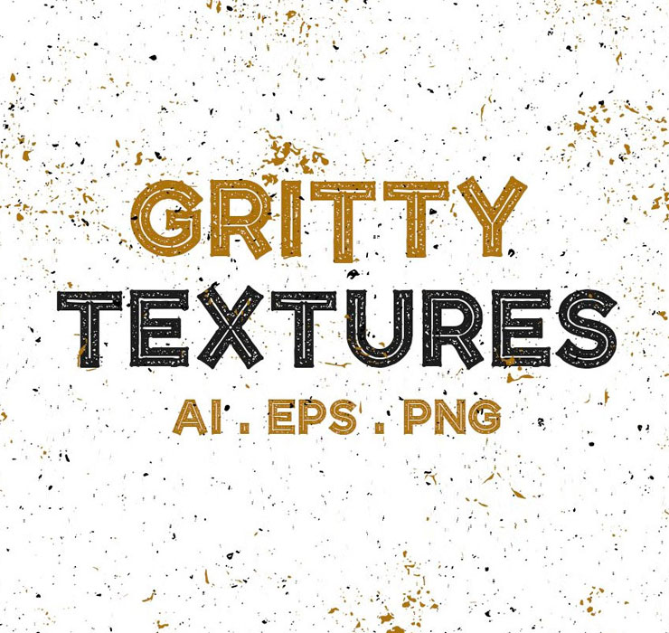 Gritty Textures Vector Pack