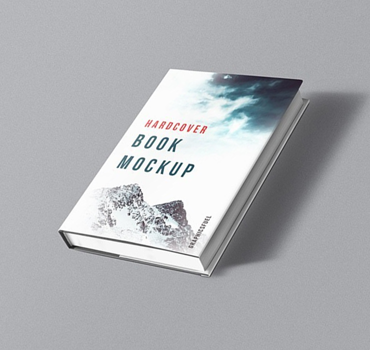Hardcover Book Cover Mockup
