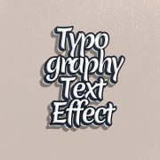 Typography Text Effect Hand-drawn