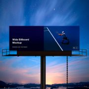 Wide Billboard Mockup