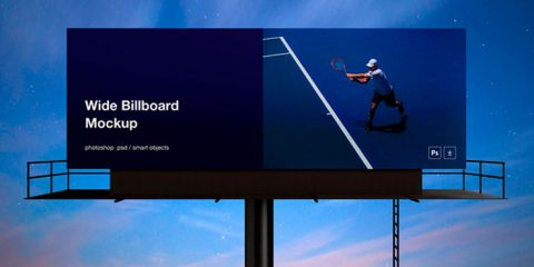 Wide Billboard Mockup