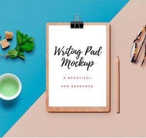 Writing Pad Mockup