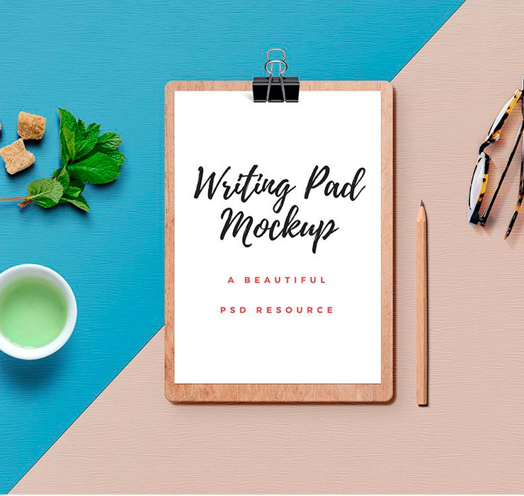 Writing Pad Mockup