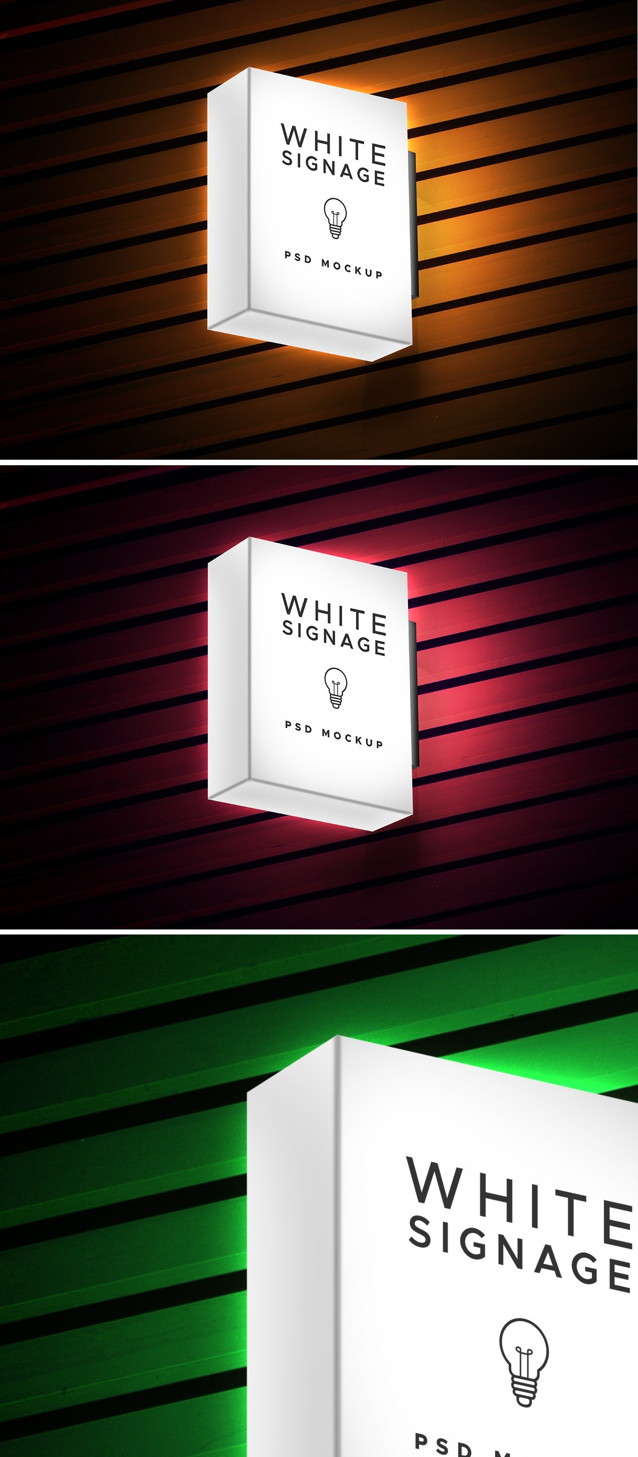 Lightbox Display Signage PSD Mockup