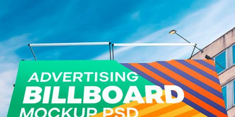 Outdoor Advertising Billboard PSD Mockup