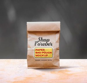 Paper Bag Pouch Mockup