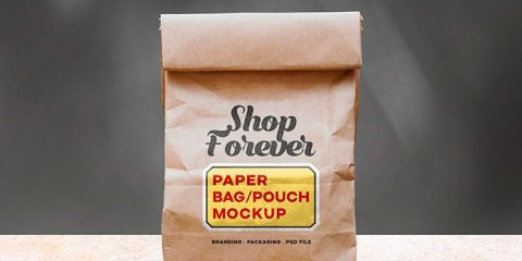 Paper Bag Pouch Mockup
