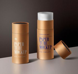 Paper Tube Packaging Mockup Template
