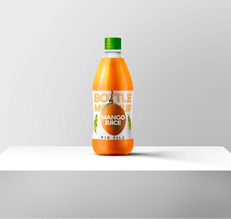 Juice Bottle Mockup PSD