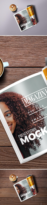 85_Folded Magazine Mockup