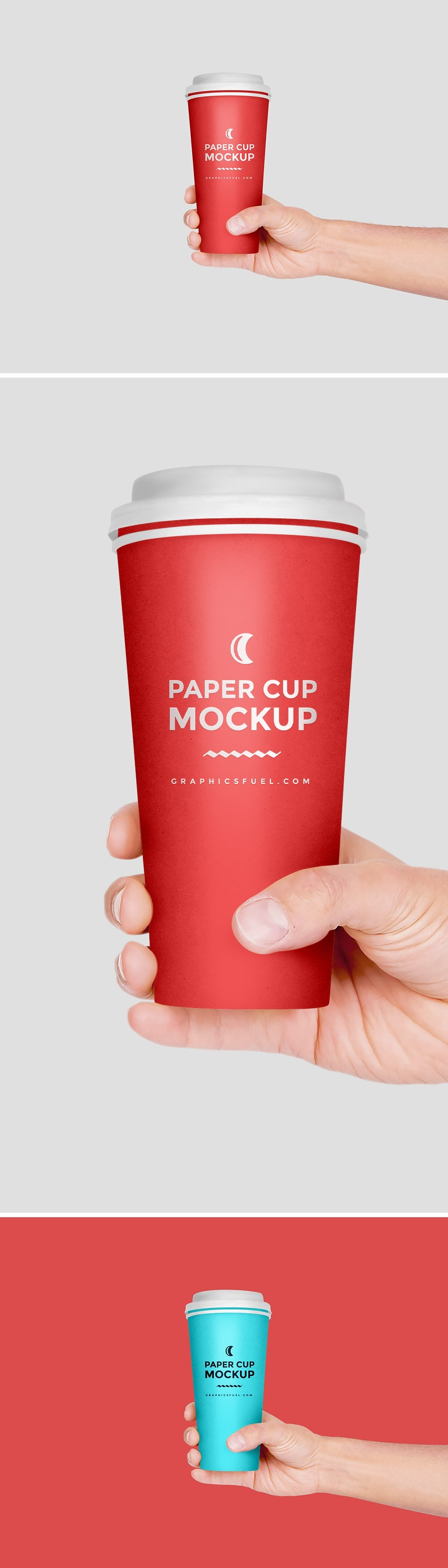 Paper Coffee Cup Hand Mockup